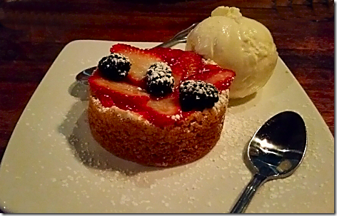 Claim Jumper Berry Butter Cake