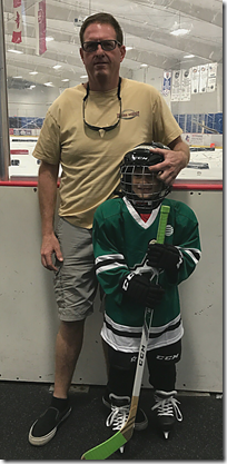 Landon Hockey with Chris