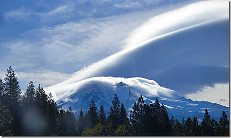Mt Shasta Lenticular Clouds 2