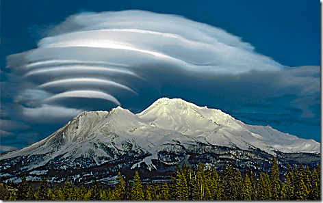 Mt Shasta Lenticular Clouds 3