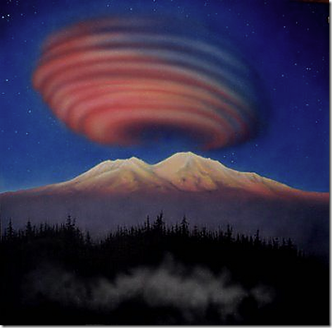 Mt Shasta Lenticular Clouds 4