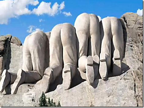 Mt Rushmore from Behind