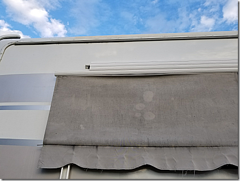 Awning Fabric Removal 9