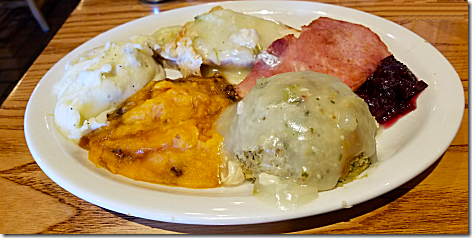 Cracker Barrel Thanksgiving Meal