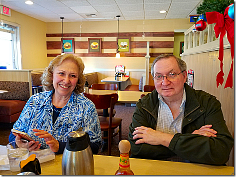 Bob snd Maria Sutton at IHOP