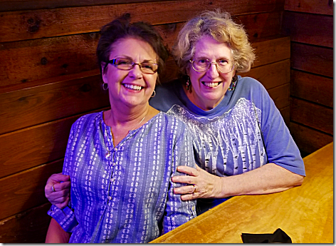 Jan and Lynn at Texas Roadhouse