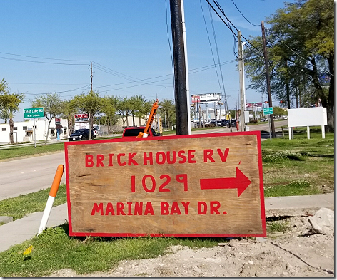 Brickhouse RV Park Sign