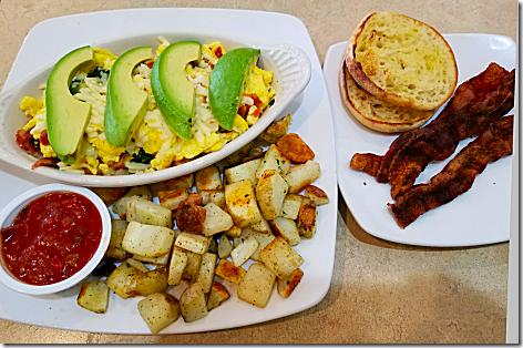 Egg And I Bacon and Avocado Scramble