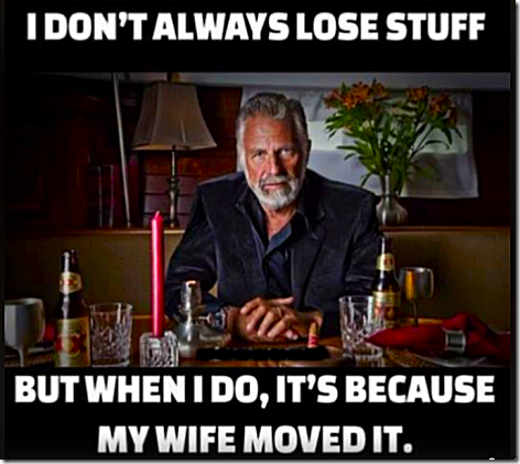 I Don't Always Lose Stuff