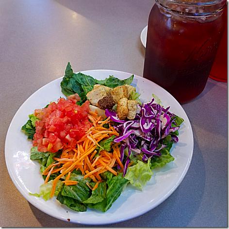 Plucker's Side Salad and Tea