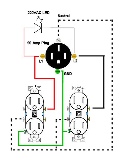 50 Amp Tester Schematic