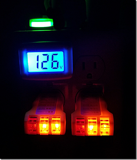 50 Amp Tester at Night