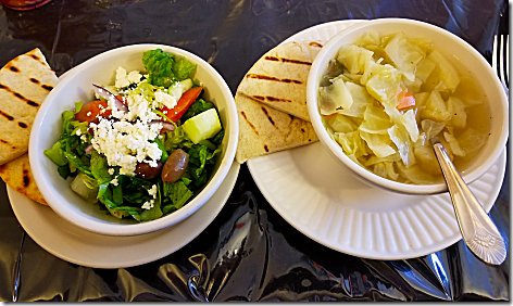 Ellie's Greek Salad and Cabbage Soup