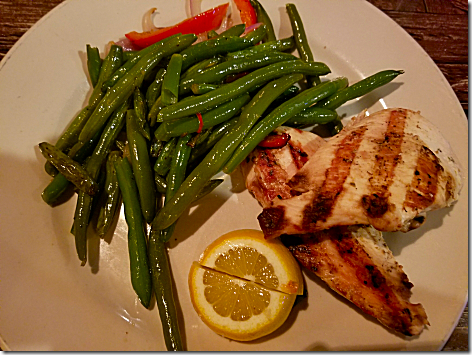 Gio's Grilled Chicken and Green Beans