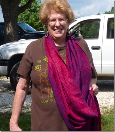 Jan with New Shawl