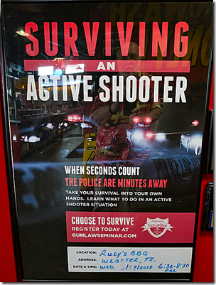 Rudy's Active Shooter Poster