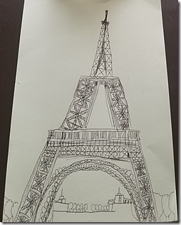 Landon Effiel Tower Drawing