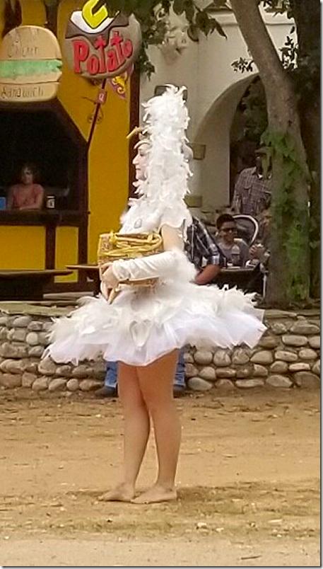 TexasRenFest 2018 Chicken Lady