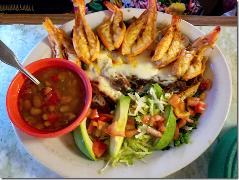 El Bosque Shrimp Chicken Beef Platter