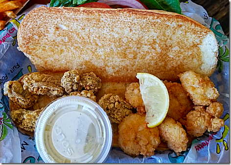 LuLu's 2018 - Shrimp and Fish PoBoy