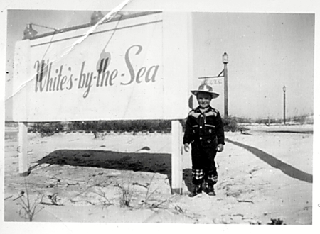 White's By The Sea Sign