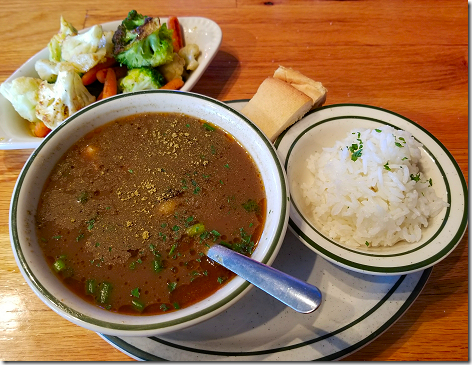 Floyd's Gumbo with Grilled Veggies