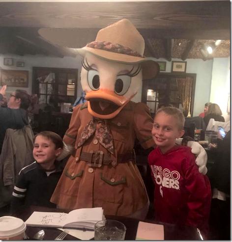 Landon and Maddox at Tusker House Restaurant at Disney